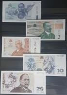 GEORGIA 1995 Banknotes Set 1 / 2 / 5 / 10 / 20 Lari UNC - Georgia