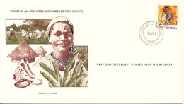 Zambia FDC 2-6-1981 Millet Grinding On A Stone With Cachet - Zambia (1965-...)