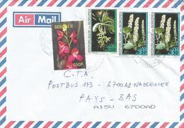 Burundi 2008 Bujumbura 650f Disa Diores 110f Angraecum Evrardianum 30f Phytolacca Orchid Cover - Burundi