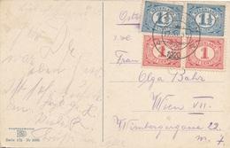 1920 Niederland - 4 Fach Frankierung Auf Ak ZEELAND Zuid Beveland - 1891-1948 (Wilhelmine)