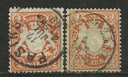 Bayern,  Nr. 64 X+y, Gestempelt - Beieren