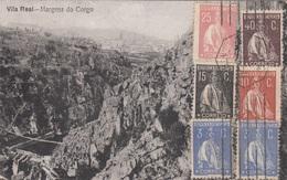 RRR! 1925 Portugal - 6 Fach MIF Auf Ak VILA REAL - Margens Do Corgo - Briefe U. Dokumente