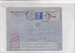 AIRMAIL TRANSAGRICOLE PARIS TO ARGENTINE. AUTRES MARQUES CIRCA 1957-BLEUP - Airmail