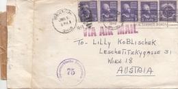 1950 USA Ö-Zensur - 5 Fach Frankatur Auf Zensurbrief Mit Inhalt V.Dayton > Wien, Brief Gefaltet S.Scan - Vereinigte Staaten