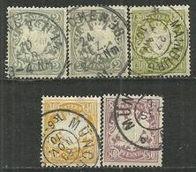 Bayern,  Nr. 65-68, Gestempelt - Bavaria