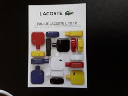 """LACOSTE   """"Eau De LACOSTE Ĺ .12. 12 - Perfume Cards"""