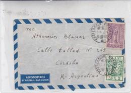 AIRMAIL CIRCULEE GREECE TO ARGENTINE CIRCA 1955-BLEUP - Griechenland