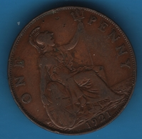 GB 1 PENNY 1921 KM# 810 George V - 1902-1971 : Post-Victorian Coins
