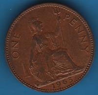 GB 1 PENNY 1963 KM# 897 QEII - 1902-1971 : Post-Victorian Coins