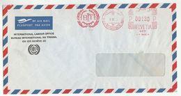 1970s ILO International Labour Office GENEVE Cover METER SLOGAN  BIT  Un  United Nations Switzerland - ILO