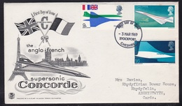 Great Britain - Concorde Supersonic Aircraft - Illustrated First Day Cover 1969 - Avions