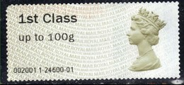 GB 2008 - 15 QE2 1st Class Post & Go Olive Brown  ( 1161) - Great Britain