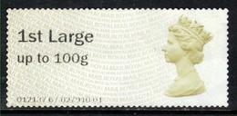 GB 2014 QE2 1st Large Post & Go Olive Brown No Gum Unused ( D1296) - Great Britain