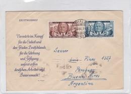 SOBRE ENVELOPE CIRCULEE DDR GERMANY TO ARGENTINE CIRCA 1954. ERSTTAGSBRIEF-BLEUP - 1843-1852 Federal & Cantonal Stamps