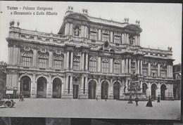 PIEMONTE - TORINO - PALAZZO CARIGNANO - PRIMO NOVECENTO FORMATO PICCOLO - ANIMATA - NUOVA - Palazzo Carignano