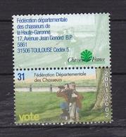 Vignette De Vote De La Fédération Départementale Des Chasseurs - Commemorative Labels