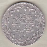 TURQUIE . 5 KURUSH AH 1293 Year 32 . ABDUL HAMID II . ARGENT . KM# 737 - Turquie