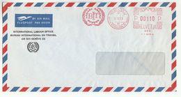1975 ILO International Labour Office GENEVE Cover METER SLOGAN  BIT  Un  United Nations Switzerland - ILO