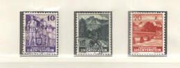 Liechtenstein PO 1937/38 Rovine E ..Scott.138+139+140+ See Scan On Lindner Page - Nuovi