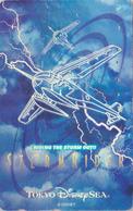 Télécarte ARGENT Japon / 110-213173 - DISNEY SEA - RIDING THE STORM OUT - Japan SILVER  Phonecard / Avion - Disney