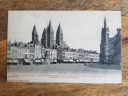 """CP Tournai """"La Grand-Place - La Cathédrale Notre-Dame XIe, Le Beffroi, La Halle-aux-Draps Et... - Série 20 N°64 A. Sugg"""" - Tournai"""