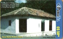 Nicaragua - NI-PUB-0015, PubliTel, Houses, Casa Natal Rubén Dario, C$50 , Used - Nicaragua