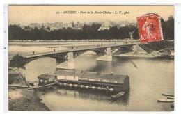 CPA-MZ-49-1911-ANGERS-PONT DE LA HAUTE-CHAÎNE-LE BATEAU LAVOIR-1 LAVEUSE- - Angers