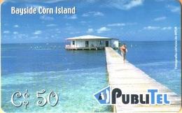 Nicaragua - NI-PUB-0016, PubliTel, Houses, Sea, Bayside Corn Island, C$50 , Used - Nicaragua