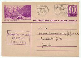 Suisse // Schweiz // Switzerland // Entiers Postaux  // Entier Postal (Image Nella Bregaglia Automobile Postale) - Entiers Postaux