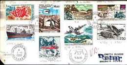 71739) LETTERA CON VALORI DELLE TERRE AUSTRALI E ANTARTICHE FRANCESI T.A.A.F.1-1-1993 - French Southern And Antarctic Territories (TAAF)
