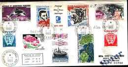 71740) LETTERA CON VALORI DELLE TERRE AUSTRALI E ANTARTICHE FRANCESI T.A.A.F.1-1-1993 - French Southern And Antarctic Territories (TAAF)