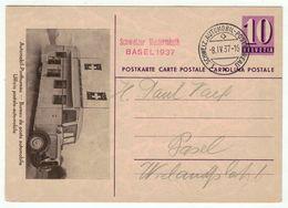 Suisse // Schweiz // Switzerland // Entiers Postaux  // Entier Postal , Bureau Poste Automobile, Mustermesss Basel 1937 - Stamped Stationery