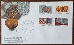 SRI LANKA - FDC 1996 - YT N°1091 à 1094 - Artisanat - Sri Lanka (Ceylon) (1948-...)