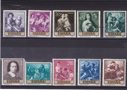 ESPAGNE 1960 PEINTURES DE MURILLO Journée Du Timbre Yvert 955-964 NEUF** MNH - 1931-Today: 2nd Rep - ... Juan Carlos I