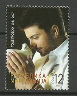 MACEDONIA  2007  SINGER TOSE PROESKI MNH - Macedonia