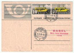 Suisse // Schweiz // Switzerland // Entiers Postaux  // Entier Postal , Bureau Poste Automobile, Basler Herbst-Warenmess - Stamped Stationery