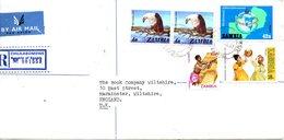 ZAMBIE. N°207 De 1980 Sur Enveloppe Ayant Circulé. Rotary. - Rotary, Lions Club