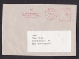 Germany: Cover, 1993, Meter Cancel, Sachtleben Mining Company, Mine Industry (traces Of Use) - Brieven En Documenten