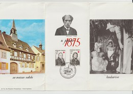1433 & 1434 De 1964 - ALBERT SCHWEITZER - Dépliant Premier Jour à KAYSERSBERG. Haut-Rhin. 68 - Voir Les 3 Scannes - FDC