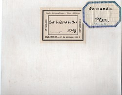 Cartes Marines Service Hydrographie De La Marine 1921 Port De Courseulles Carte Annotée - Nautical Charts