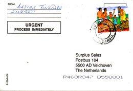 ZAMBIE. N°1068 De 2000 Sur Enveloppe Ayant Circulé. Tortue. - Turtles