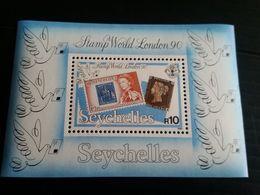 71741) Seychelles 1990 SSTAMP WORLD LONDON 90 FOGLIETTO MNH** - Seychelles (1976-...)