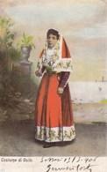 OSILO-SASSARI-COSTUME DI OSILO-CARTOLINA VIAGGIATA IL 13-5-1906 - Sassari