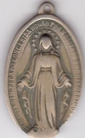 MARIA MADONNA MOTHER MARY MEDALLA MEDAILLE CATOLICA CATHOLIQUE CIRCA 1900's SIZE 2.3x4cm WEIGHT 8grs-BLEUP - Badges