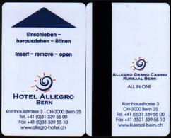 Schweiz / Swizz Hotelkarte Keycard Aus Bern - Hotel Keycards
