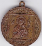 N S DELSOCORRO PERPETUO ROGAD POR N PENIN LYON.MEDALLA CIRCA 1900s SIZE 3.3diam WEIGHT 13grs-BLEUP - Other