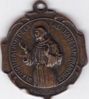 INAGURACION BASILICA SAN FRANCISCO BUENOS AIRES. MEDALLA CIRCA 1919 SIZE 3cm Diam WEIGHT 13grs-BLEUP - Badges