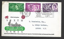 1958.   SIXTH  BRITISH  EMPIRE  & COMMONWEALTH  GAMES - FDC