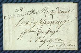 Marne - Chalons Pour Les Forges De Longuyon. - Marcophilie (Lettres)