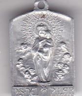 2a PEREGRINACION AL PILAR PLAQUETA CIRCA 1909 SIZE 2x3cm WEIGHT 1grs-BLEUP - Altri